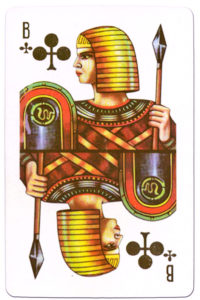 Souvenir historic cards from Russia – Jack of clubs