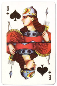 Souvenir historic cards from Russia – Jack of spades