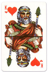 Souvenir historic cards from Russia – King of hearts