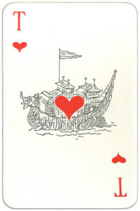 Suvenirnye karty deck from Russia – Ace of hearts