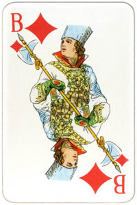 Suvenirnye karty deck from Russia – Jack of diamonds
