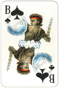 Suvenirnye karty deck from Russia – Jack of spades