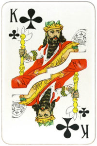 Suvenirnye karty deck from Russia – King of clubs