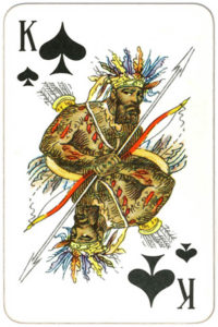 Suvenirnye karty deck from Russia – King of spades