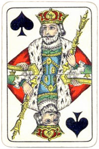 Swiss portrait vintage cards from Belgium – King of Spades