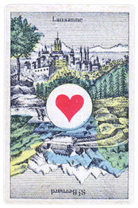 Swiss portraits cards made in Belgium Ace of Hearts