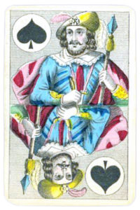 Swiss portraits cards made in Belgium Jack of Spades