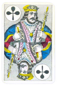 Swiss portraits cards made in Belgium King of Clubs