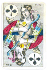 Swiss portraits cards made in Belgium Queen of Clubs