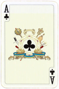 Ukraine Piatnik – Ace of clubs