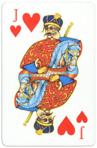 Ukrainian Playing Cards unknown publisher – Jack of hearts
