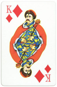 Ukrainian Playing Cards unknown publisher – King of diamonds