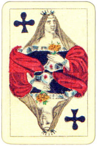 XIX century deck by Fried Eurich Austria – Queen of clubs