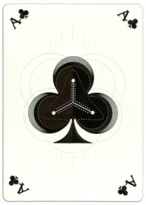 Ace of clubs poker card nice design from Ekaterinburg Russia