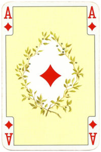 Ace of diamonds cards from Kaiser Jubileaum Spielkarten
