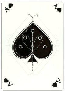 Ace of spades poker card nice design from Ekaterinburg Russia