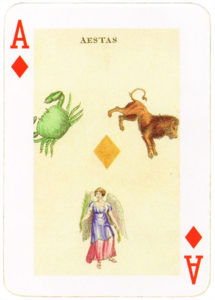 Aestas – Ace of diamonds Astronomical Cards by Hodges England