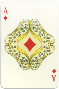 Classic playing cards Karty do gry by Trefl Poland – Ace of diamonds