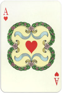 Classic playing cards Karty do gry by Trefl Poland – Ace of hearts
