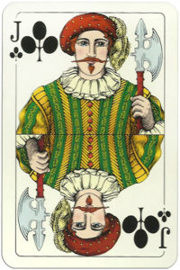 Classic playing cards Karty do gry by Trefl Poland – Jack of clubs