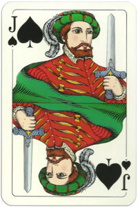 Classic playing cards Karty do gry by Trefl Poland – Jack of spades