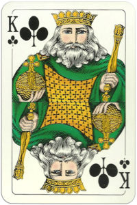 Classic playing cards Karty do gry by Trefl Poland – King of clubs