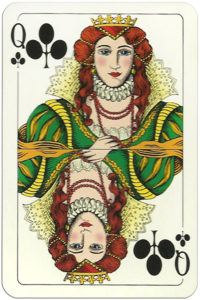 Classic playing cards Karty do gry by Trefl Poland – Queen of clubs