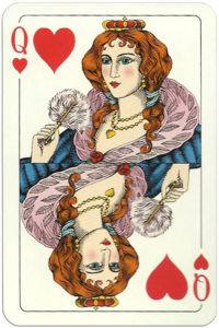 Classic playing cards Karty do gry by Trefl Poland – Queen of hearts