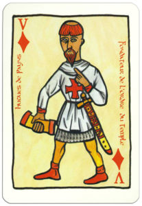 Jack of diamonds card image from Le jeu de cartes des Croisades