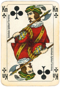 Jacob Holmblad pattern cards Holmblads Billeder Eneret Bridge VASS for Salomon Co – Jack of clubs