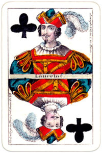 Joseph Glanz Historical Theatrical vintage playing cards from Austria – Jack of clubs