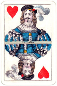 Joseph Glanz Historical Theatrical vintage playing cards from Austria – Jack of hearts