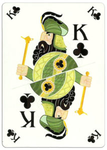 King of clubs poker card nice design from Ekaterinburg Russia