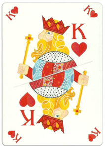 King of hearts poker card nice design from Ekaterinburg Russia