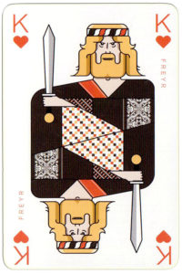 Norse God Freyr – King of hearts Icelandair airline playing cards