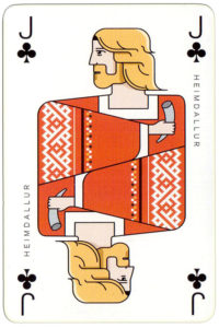 Norse God Heimdallur – Jack of clubs Icelandair airline playing cards