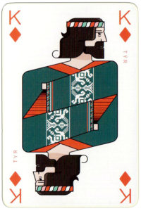 Norse God Tyr – King of diamonds Icelandair airline playing cards