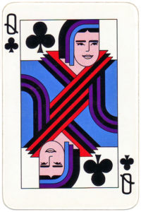 ArtDeco style cards by Owen King Printers Australia – Queen of clubs