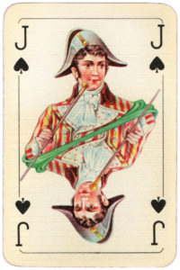 Baroque cards from Hungary – Jack of spades
