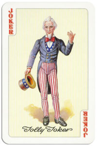 Glorious America cards made by Piatnik American Presidents and leaders – Joker Uncle Sam