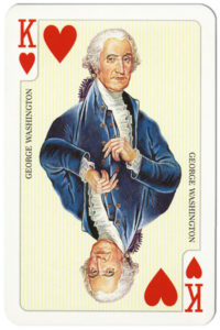 Glorious America cards made by Piatnik American Presidents and leaders – King of hearts George Washington