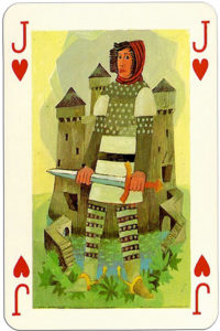 Knights of the round table Grimaud France design by Jean Bruneau – Jack of hearts