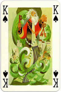 Knights of the round table Grimaud France design by Jean Bruneau – King of spades