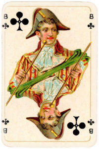 Patience for Hungary by Piatnik 1927 – Jack of clubs