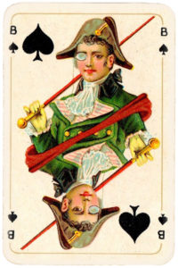 Patience for Hungary by Piatnik 1927 – Jack of spades