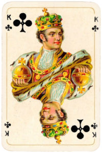 Patience for Hungary by Piatnik 1927 – King of clubs
