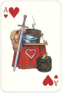 PromElectronica contemporary eclectic design Russian cards – Ace of hearts