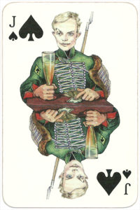 PromElectronica contemporary eclectic design Russian cards – Jack of spades