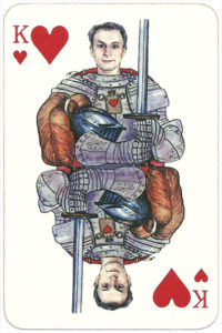 PromElectronica contemporary eclectic design Russian cards – King of hearts
