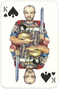 PromElectronica contemporary eclectic design Russian cards – King of spades